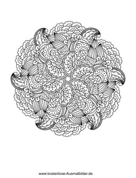 blumenmandala erwachsene ausmalen malvorlagen vorlagen