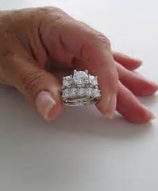 wedding band and engagement ring set spectacular three engagement ring wedding set