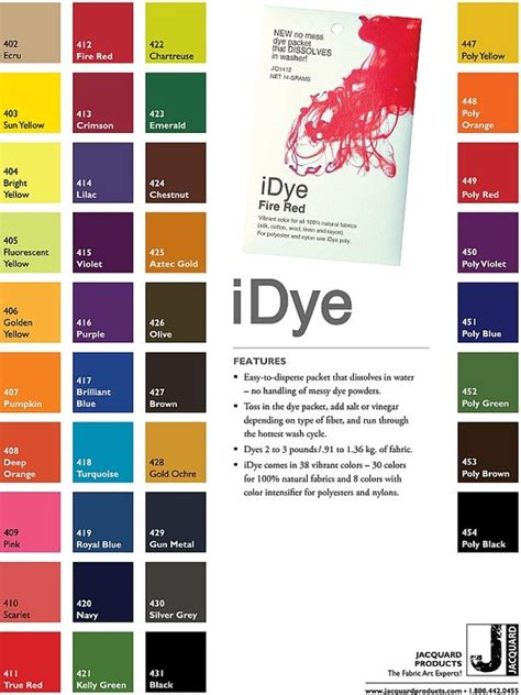 d馗orer cuisine dyeing fabric colour chart fabric dye and cards