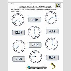 Clock Worksheets  To 1 Minute