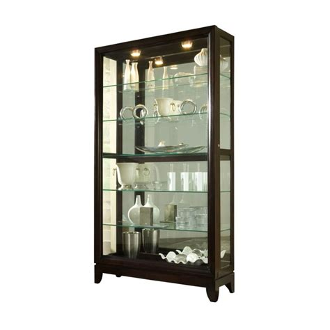 Pulaski Furniture Cherry Curio Cabinet by Pulaski Chocolate Cherry 46 Inch Wide Curio Cabinet 20661