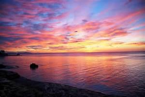 Wolken In Rose : images gratuites plage c te oc an horizon nuage ciel soleil lever du soleil le coucher ~ Orissabook.com Haus und Dekorationen