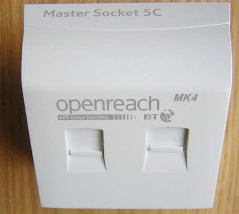 bt openreach new nte5c master socket faster broadband telecom green