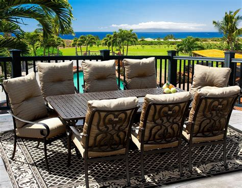 8 person patio table tortuga 42x84 rectangle outdoor patio 9pc dining set for 8