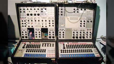 man restoring  classic synthesiser     hour acid