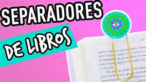 Separadores de Libros Originales y fáciles Regreso a Clases Mini Tip #6 YouTube