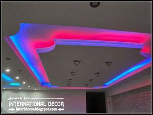 False ceiling spotlights : Led ceiling lights strip lighting ideas in the interior