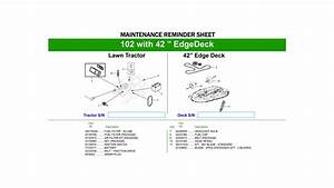 John Deere Maintenance Diagram