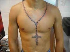 40 Religious Rosary Tattoos For Chest