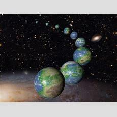 Artist's Concept Of Earthlike Planets In The Future Universe Esahubble