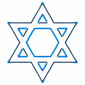 Jewish Star Of David - Blue Outline Version Digital Art by ...