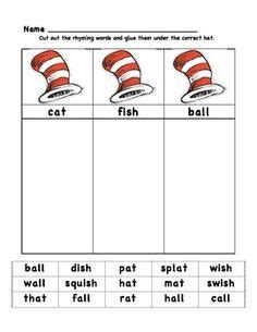 cat in the hat rhyming activities search 871 | de4641328937bf0e33ee24aa41589e82