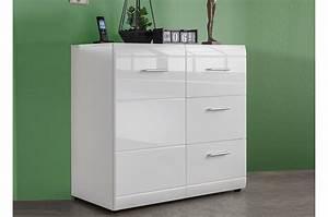 Meuble Bas Blanc Laqué : meuble commode blanc laqu pas cher ~ Edinachiropracticcenter.com Idées de Décoration