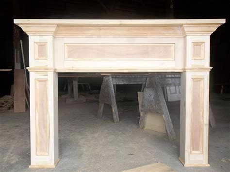 Custom Made Paint Grade Fireplace Mantel Surround By Old
