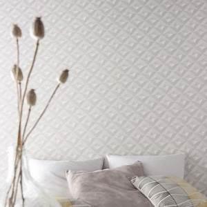 Papier Peint Blanc Relief : papier peint intiss virtual 3d blanc castorama ~ Melissatoandfro.com Idées de Décoration