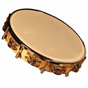 Granite Percussion 10-inch Wood Frame Tambourine With ...