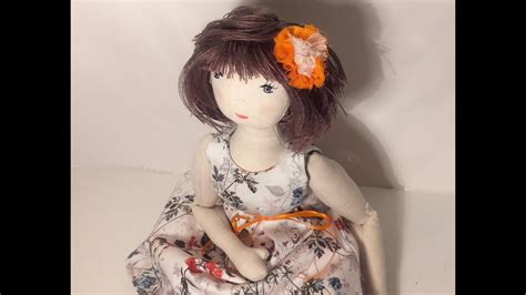 doll making easy rag doll sewing pattern part  youtube