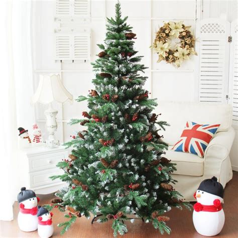 15m5ft Frosted Tip Red Fruits Christmas Tree