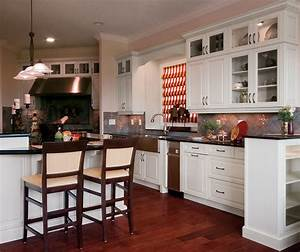 traditional kitchen cabinets in painted maple kitchen With what kind of paint to use on kitchen cabinets for houzz wall art