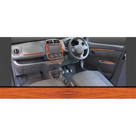 renault kwid dashboard trims kit rosewood colour