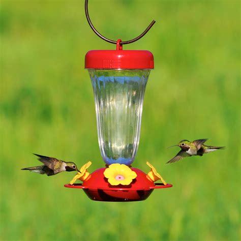 plastic hummingbird feeders pet s finest yellow flower top fill plastic