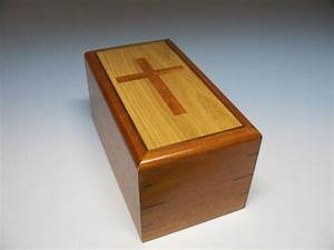 Religious Cherry Cross Urn Cremation Urn by