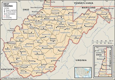 state  county maps  west virginia