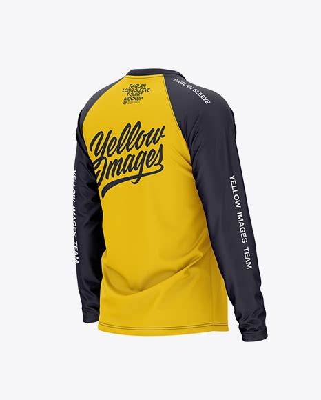 Download all 63 hoodie product mockups unlimited times with a single envato elements subscription. Free Men's Raglan Long Sleeve T-Shirt Mockup - Back Half ...