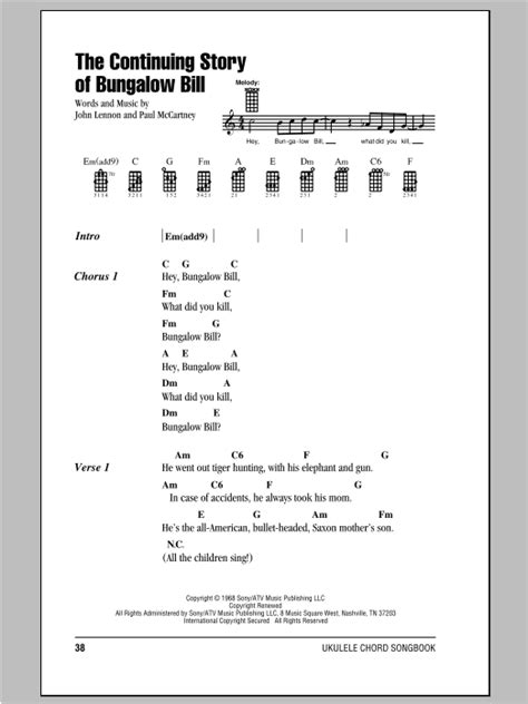 The Continuing Story Of Bungalow Bill Sheet Music By The