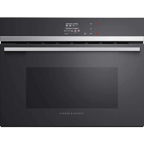 fisher paykel omndb cm black combi microwave oven