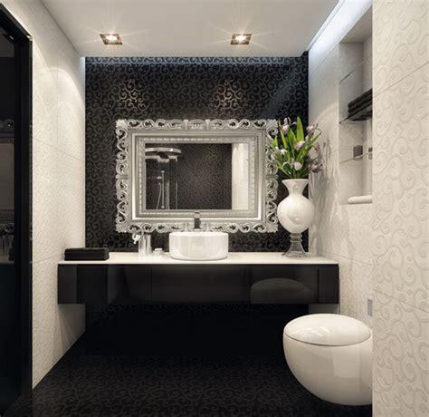 bathroom looks ideas bathroom elegant black white bathroom interior with glossy looks luxury busla home decorating