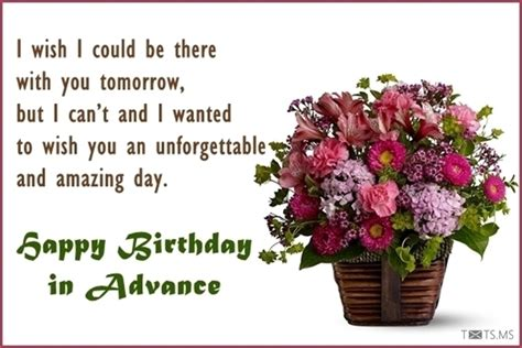 advance happy birthday wishes messages quotes images  facebook whatsapp picture sms txtsms