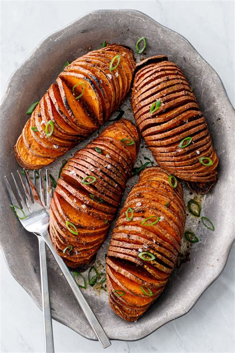 Spiced Hasselback Sweet Potatoes   Love and Olive Oil