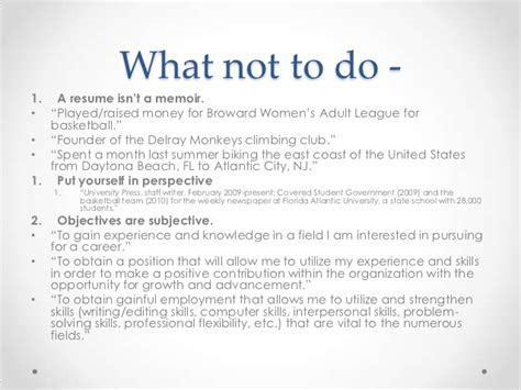 What Not To Put On A Resume by Resumes And Cover Letters