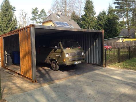how to build a carport ein container als garage containerbasis de