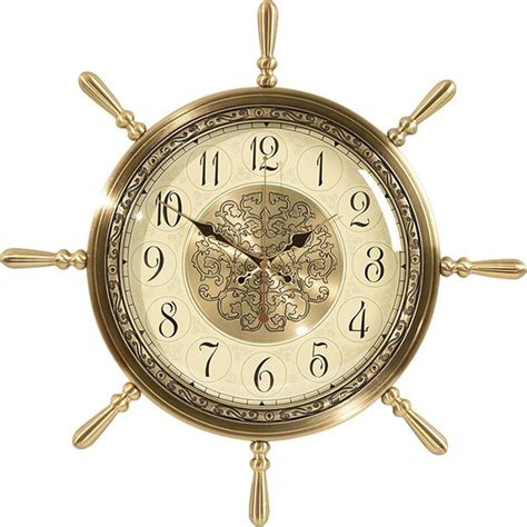Like hanging a decorative wall mirror or picture, a new clock on the wall looks like a piece of art that's functional, too. Large Metal Creative Mediterranean Glass Wall Clock Modern ...