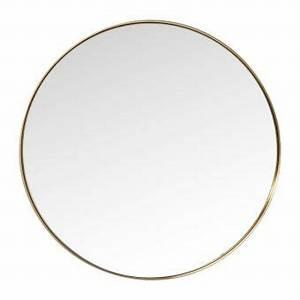Miroir Rond Laiton : miroir curve rond laiton 100cm kare design achat prix fnac ~ Teatrodelosmanantiales.com Idées de Décoration