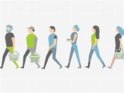Walking Animated Shopping Walk Cycle Loop Gifer