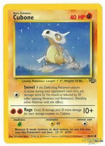 pokemon tcg card cubone from jungle