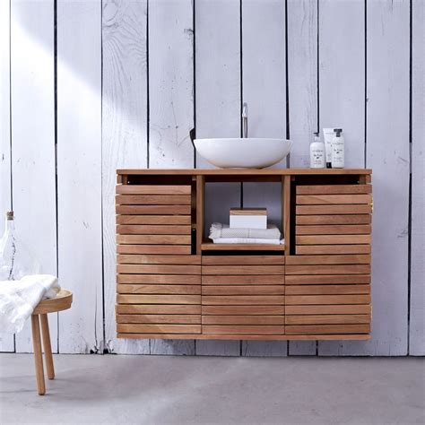 Wooden Bathroom Sink Cabinets by Tikamoon Solid Teak Washstand Sink Unit Vanity Cabinet