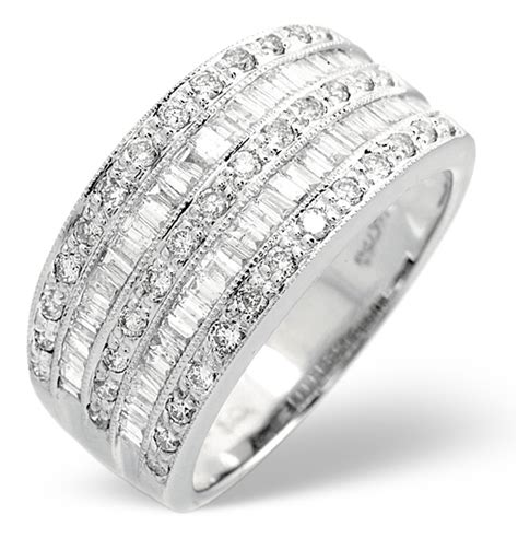 bvlgari bvlgari 18k white gold 4 band ring size 18k white gold ring 1ct item n3559