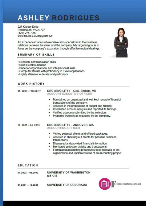 account executive resume template  resume