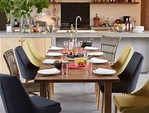 deco de salle a manger toutes nos idees tendance femme With idee deco cuisine avec chaises salle À manger bois et tissu