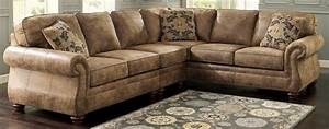 living room comfortable ashley furniture sectionals for With brown leather sectional sofa ashley furniture