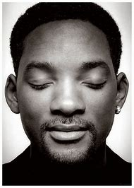 Will Smith Black and White Portrait