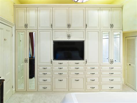 wall bed by valet custom cabinets closets wardrobe media unit with antique white glazed rtf fronts