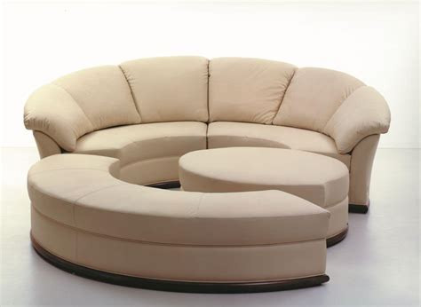 round loveseat with ottoman round sofa covered in leather modular idfdesign