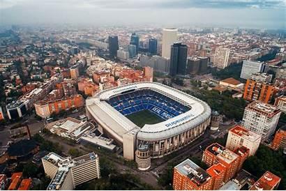 Stadium Bernabeu Santiago Madrid Aerial Spain Unveil