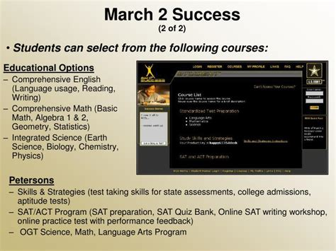 army education programs powerpoint