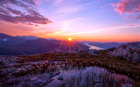 Sunset Mountain Landscape HD Wallpapers HD / Desktop and ...